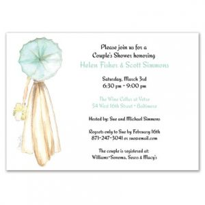 Parasol Bride Invitation