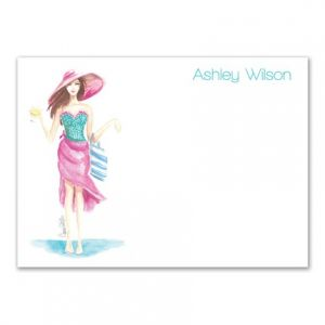 Beachy Babe Flat Card