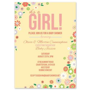 Cheerful Yellow Invitation