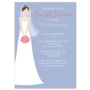 Brunette Bride Invitation