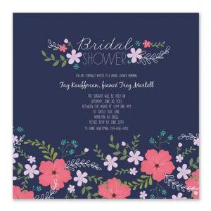 Blue Floral Invitation