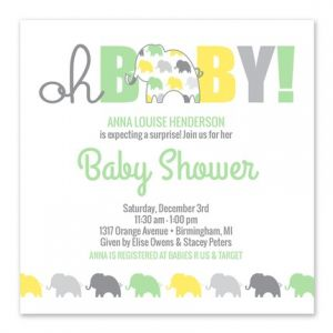 Yellow Elephant Invitation
