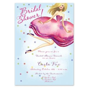 Bride & Confetti Invitation