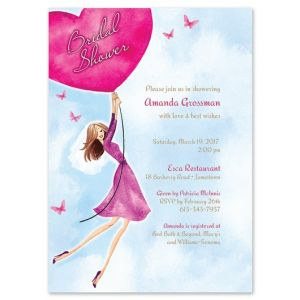 Heart Balloon Invitation