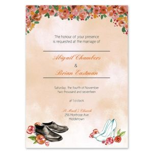 Wedding Shoes Invitation