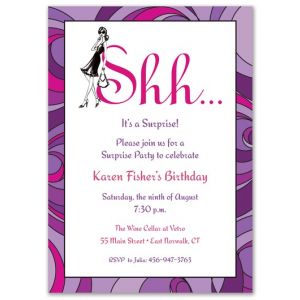 Lavender Surprise Invitation