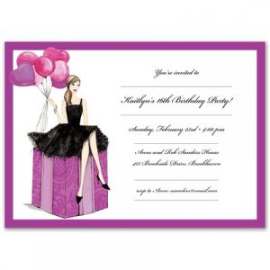 Fashionable Girl Invitation