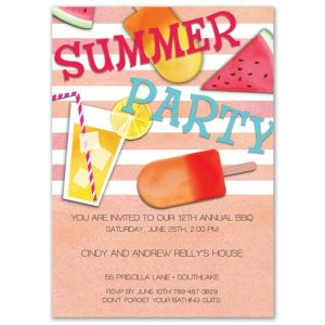 Summer Essentials Invitation