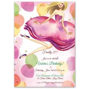 Jumping Girl Invitation