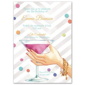 Martini Cheers Invitation