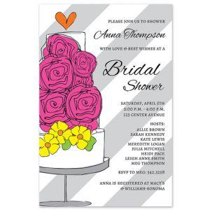 Floral Cake Invitation