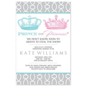 Royal Reveal Invitation