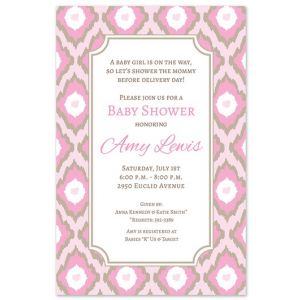 Pink Ikat Invitation