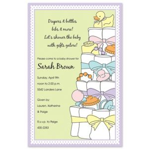 Diaper Cake Invitation