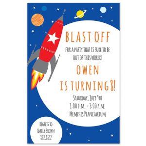 Space Rocket Invitation