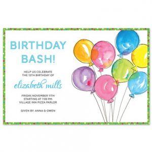 Balloons Invitation