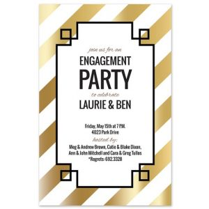 Gold Diagonal Invitation