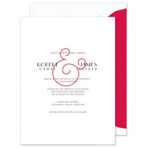Red Ampersand Invitation