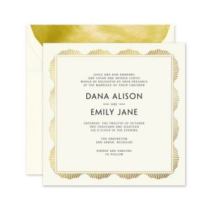 Ecru Art Deco Invitation