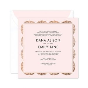 Pink Art Deco Invitation