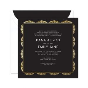 Black Art Deco Invitation