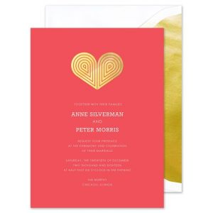 Red Deco Heart Invitation