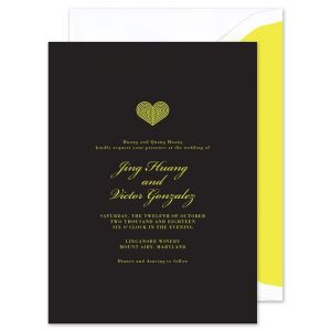 Black & Neon Invitation