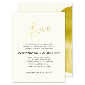 Gold Love Invitation