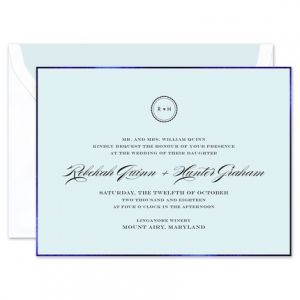 Blue Foil Border Invitation