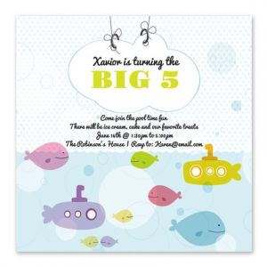 Sea Submarine Invitation