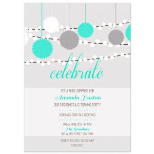 Celebration Light Invitation