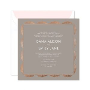 Radiant Gray Invitation