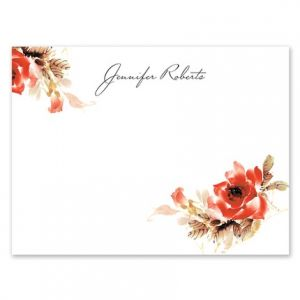 Corner Flowers Flat Card