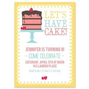 Let's Have Cake! Invitation