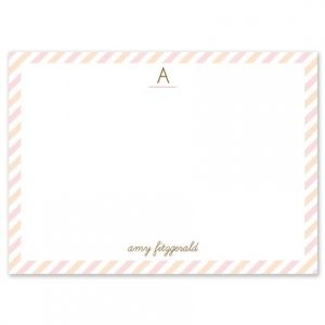 Pink Stripe Flat Card