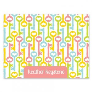 Heart Key Note Card