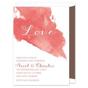 Rose Watercolor Invitation
