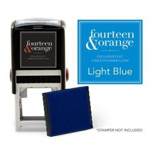 Square Light Blue Ink Refill