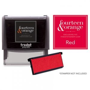 Rectangle Red Ink Refill