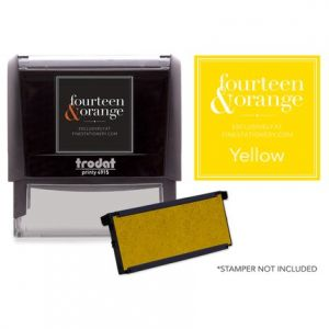Rectangle Yellow Ink Refill