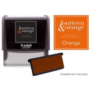 Rectangle Orange Ink Refill