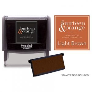 Rectangle Brown Ink Refill