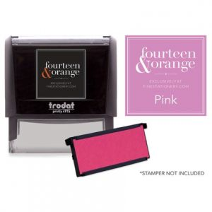 Rectangle Pink Ink Refill