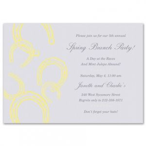 Yellow Horseshoe Invitation
