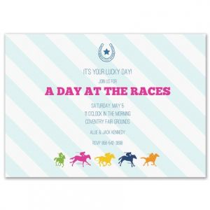 Colorful Jockey Invitation