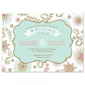 Floral Paisley Invitation
