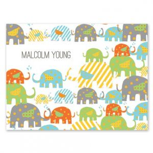 Elephant Pattern Note Card