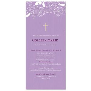 Lavender Flower Invitation