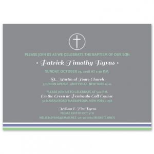 Gray Cross Invitation