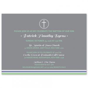 Gray Cross Invitation